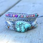 Turquoise Protection Wrap Bracelet