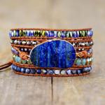 Pure Ocean Lapis Lazuli Wrap Bracelet