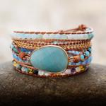 Summer Vibes Amazonite Wrap Bracelet