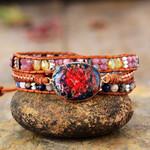 Inner Fire Jasper Wrap Bracelet