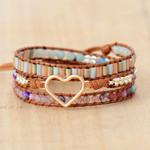 Friendship Love Tourmaline Wrap Bracelet