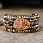 Earth Healing Energy Wrap Bracelet