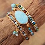 Amazonite Dream Healing Wrap Bracelet