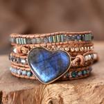Healing Labradorite Love Wrap Bracelet