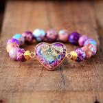 Imperial Jasper Heart Bracelet