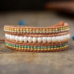 Inner Glow Pearl Wrap Bracelet