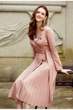 Casual suit collar autumn women dress