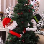 Christmas Santa Claus Snowman Tree Topper