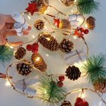 2M 20LEDs Christmas Pine Cones Branch