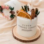 Christmas Pine Cone Flowers Scented Candles