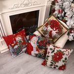 Sofa Square Pillowcase Christmas