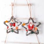 Artificial Rattan Star Shape Santa Claus