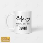 Custom mug - HAPPINESS LIFE LOVE
