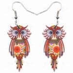 Animal Acrylic Stud Dangle Drop Owl Birds Big Long Earrings News Fashion Jewelry For Girls Women Teens KIDS Anime Gift