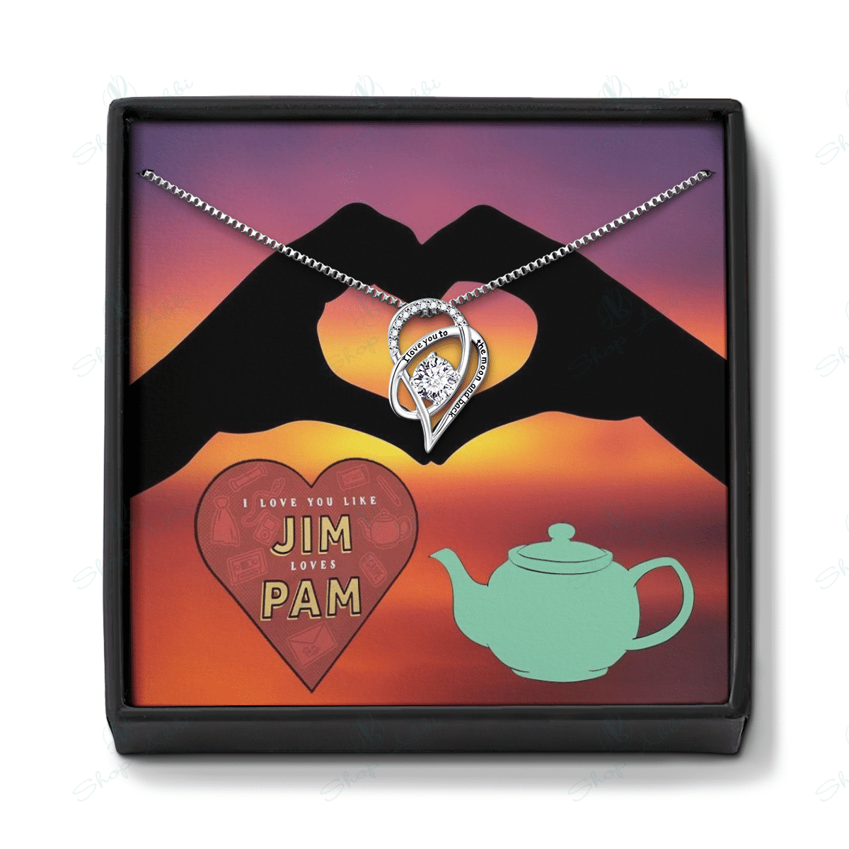 "Valentine Gift for Her ""I love you like Jim loves Pam"""