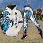Blue Horse Lady Hoodie and Legging Set