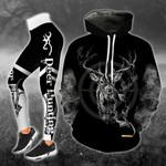Deer Dark Legging and Hoodie Set