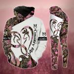 Infinity Heart Pink Buck And Doe Legging and Hoodie Set