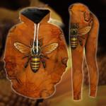Honey Bee Brown Hoodie and Legging Set