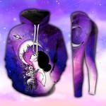 Hippie Galaxy Girl Purple Hoodie and Legging Set