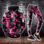 Pink On Black Camouflage Deer Legging and Hoodie Set