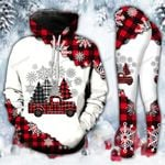 Red Truck Christmas Plaid Legging and Hoodie