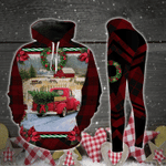 Red Truck Christmas Tree Legging and Hoodie