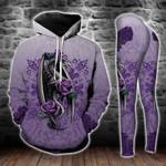 Gothic Purple Dragon Legging and Hoodie Set