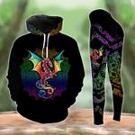 Dragon Colorful Mandala Legging and Hoodie Set