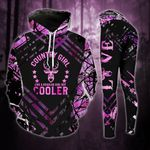 Cooler Country Girl Legging and Hoodie Set Purple