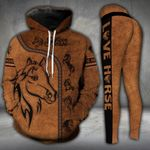 Brown Horse Lover 2 Hoodie and Legging Set