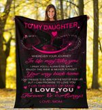 To My Daughter Dark Pink Infinity Daughter Fleece Blanket