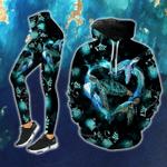 Turtles in Heart Blue Hoodie and Legging Set