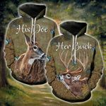 Buck Doe Forest Couple Hoodies