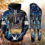 Deer In The Forest Blue Tree Camo Legging and Hoodie Set