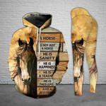 Horse Rustic Ecru Legging and Hoodie Set