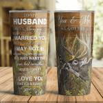 To My Husband Deer I Choose You Tumbler