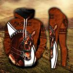 Horse Lover Brown 3 Legging and Hoodie Set