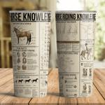 Horse Riding Knowledge Tumbler