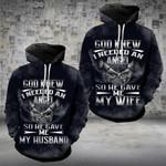 God Gave Me My Angel Husband Wife Couple Hoodies