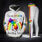 I Wear Rainbow For My Love LGBT Legging and Hoodie Set