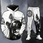 Viking Wolf Hoodie Sweatpant Set
