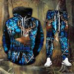 Deer Blue 2 Hoodie Sweatpant Set