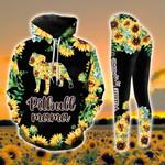 Pitbull Mama Sunflower Legging and Hoodie Set