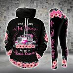 A Girl In Love With Truck Driver Legging and Hoodie Set