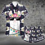 No Drama Llama Hawaii Shirt and Short Set