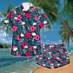 Skull Tropical 2 Hawaii Shirt and Short Set
