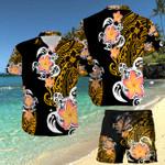 Turtle Polynesian Hawaii Shirt and Short Set
