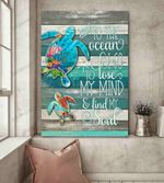 Turtle To The Ocean Canvas