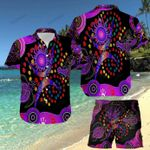 Turtle Purple Hawaii Shirt and Short Set